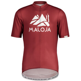 Maloja SanetschM. 1/2 Shortsleeve Bike Jersey Men, red monk